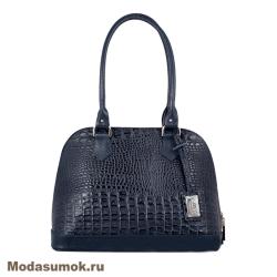 Женская сумка из натуральной кожи L-Craft L 7 синий кайман