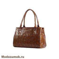 Сумка из натуральной кожи Alexandr M 206 38 коричневая