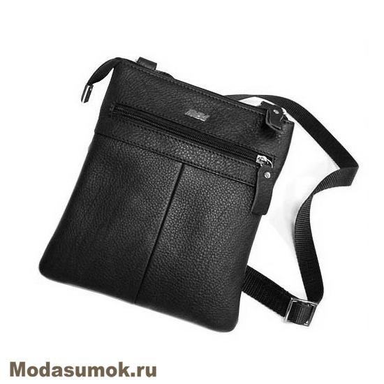 1ce5ae2979b5 Мужская сумка через плечо из натуральной кожи BB1 940082 чёрная ...