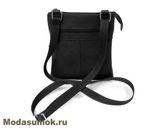 24e5e54b0faa Мужская сумка через плечо из натуральной кожи BB1 940082 чёрная. New!