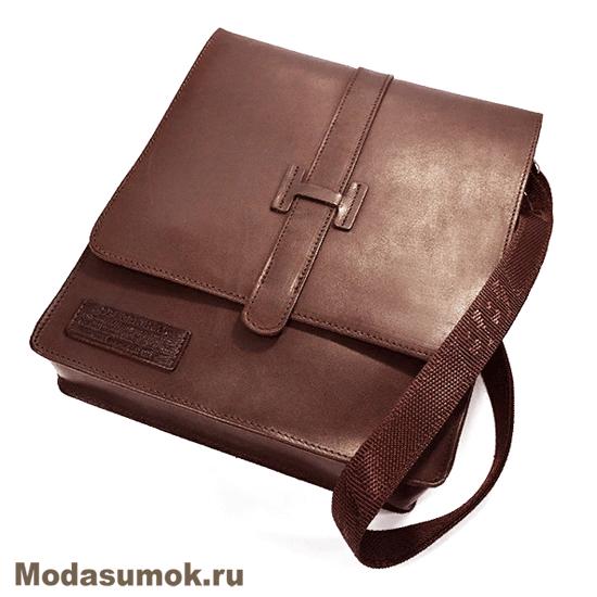 9cb39b26bfcd Сумка-планшет мужская из натуральной кожи BB1 940120 коричневая ...