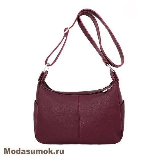 0885cd646d23 Женская сумка из натуральной кожи Protege Ц-266 бордовая купить в ...