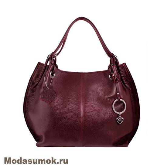 3756d3efa1fd Женская сумка из натуральной кожи L-Craft L 55 бордовая купить в ...