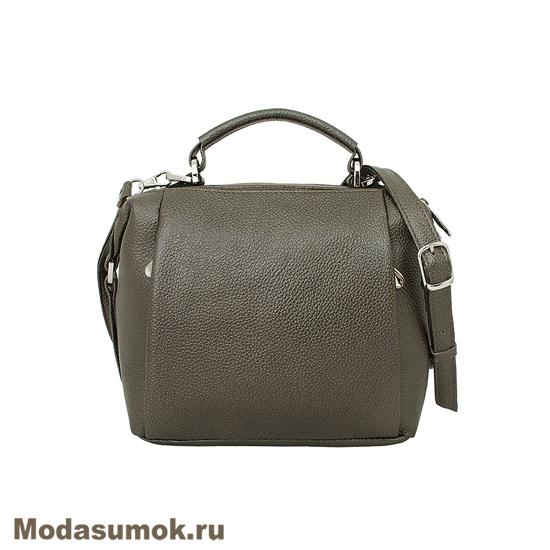 194c61caa7b3 Женская сумка из натуральной кожи Protege Ц-329 хаки металлик купить ...