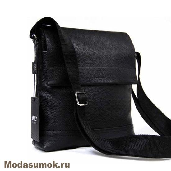 df6cf6110184 Сумка мужская планшет через плечо из натуральной кожи BB1 940047 черная