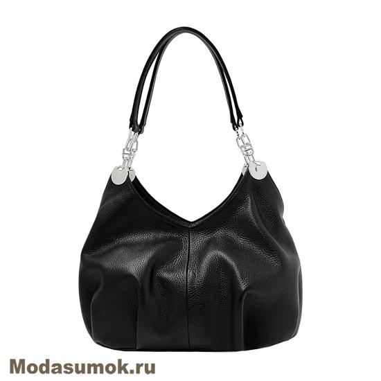 2f5d2bda66f3 Женская мягкая сумка из натуральной кожи L-Craft L 50 черная купить ...