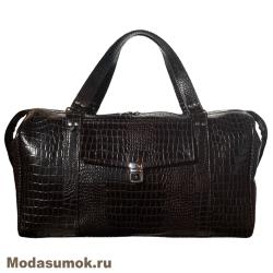 Дорожные кожаные сумки протеже чемоданы плоские