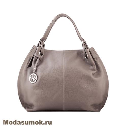 90bac3865443 Женская сумка из натуральной кожи L-Craft L 55 светло-серая купить в ...