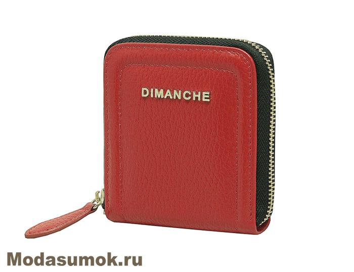 6727ab790e53 Кошелек на молнии женский из натуральной кожи Dimanche 590/3 красный ...