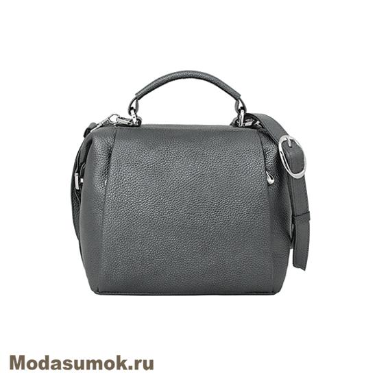 3a049242687b Женская сумка из натуральной кожи Protege Ц-329 серый металлик ...