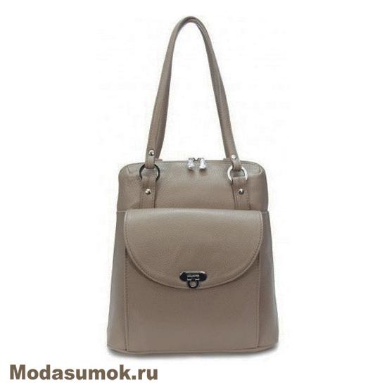 7efc21361e08 Сумка-рюкзак женская из натуральной кожи Protege Ц-226 капучино ...