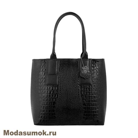 fc9c46880bea Женская сумка из натуральной кожи L-Craft L 74 черный кайман купить ...
