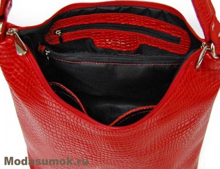 c3d55e7d8169 Сумка женская из натуральной кожи A.Valentino - 347 красная. Артикул:  SU493. Нет в наличии